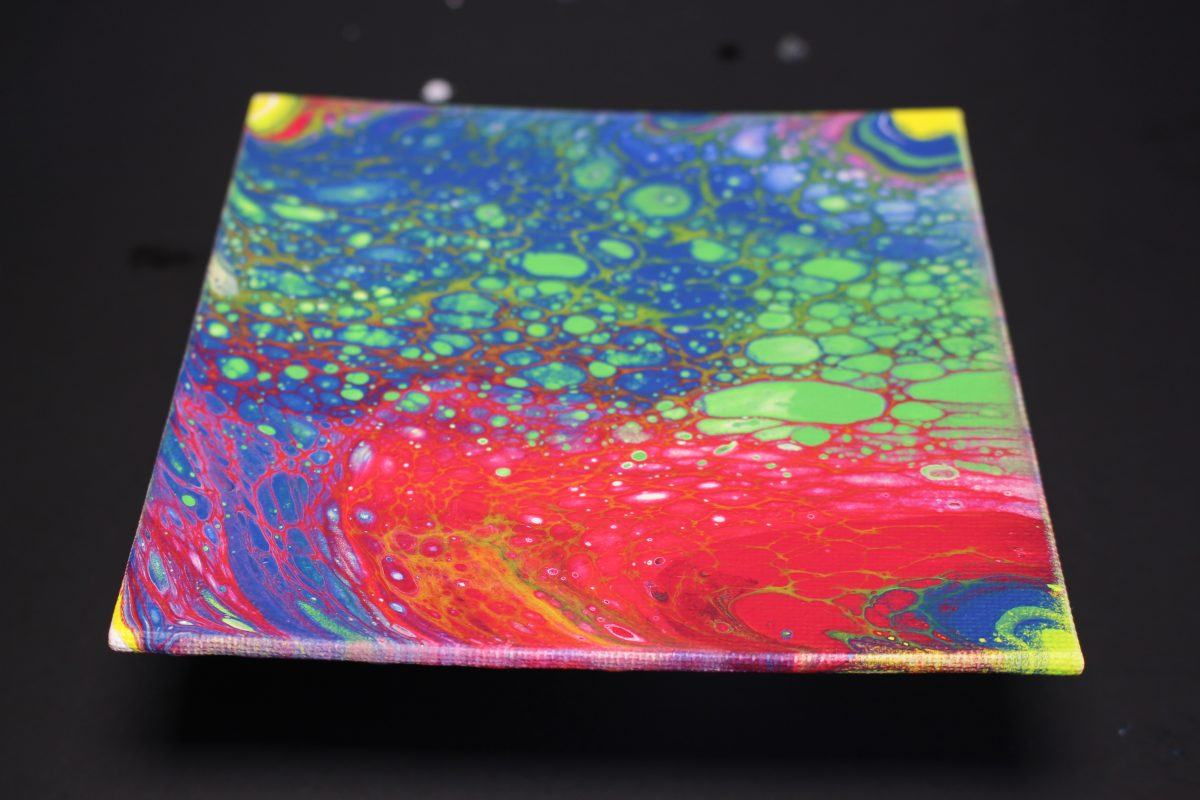 Vibrant Test Tube Acrylic Pour! Satisfying Abstract Flow Painting