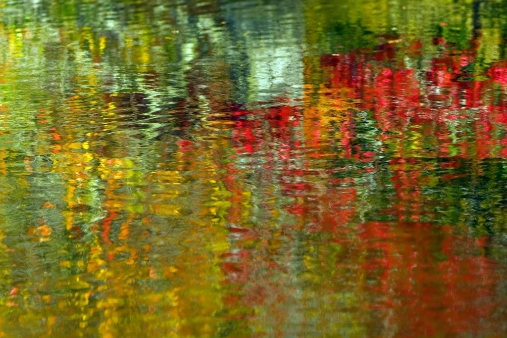 Abstract painting of water reflection